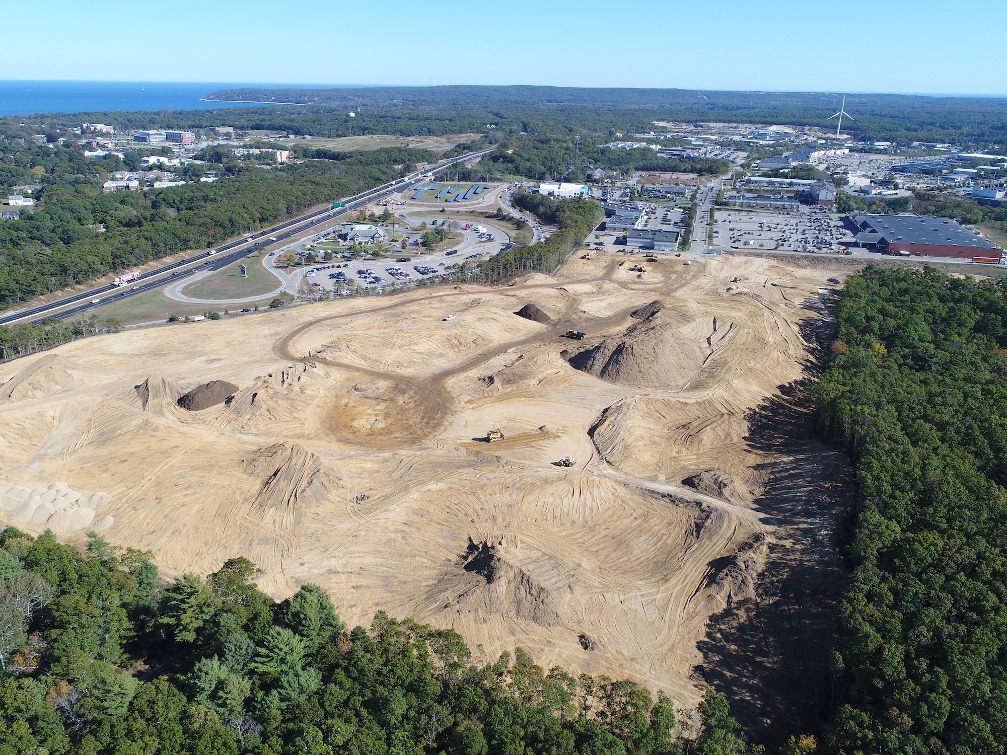 construct site aerial photo from ARE's UAS services