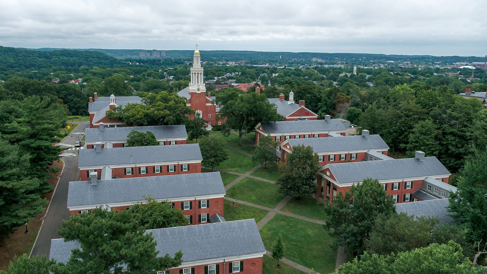 Aerial photograph of Yale University, Divinity Campus by AirShark UAS Services