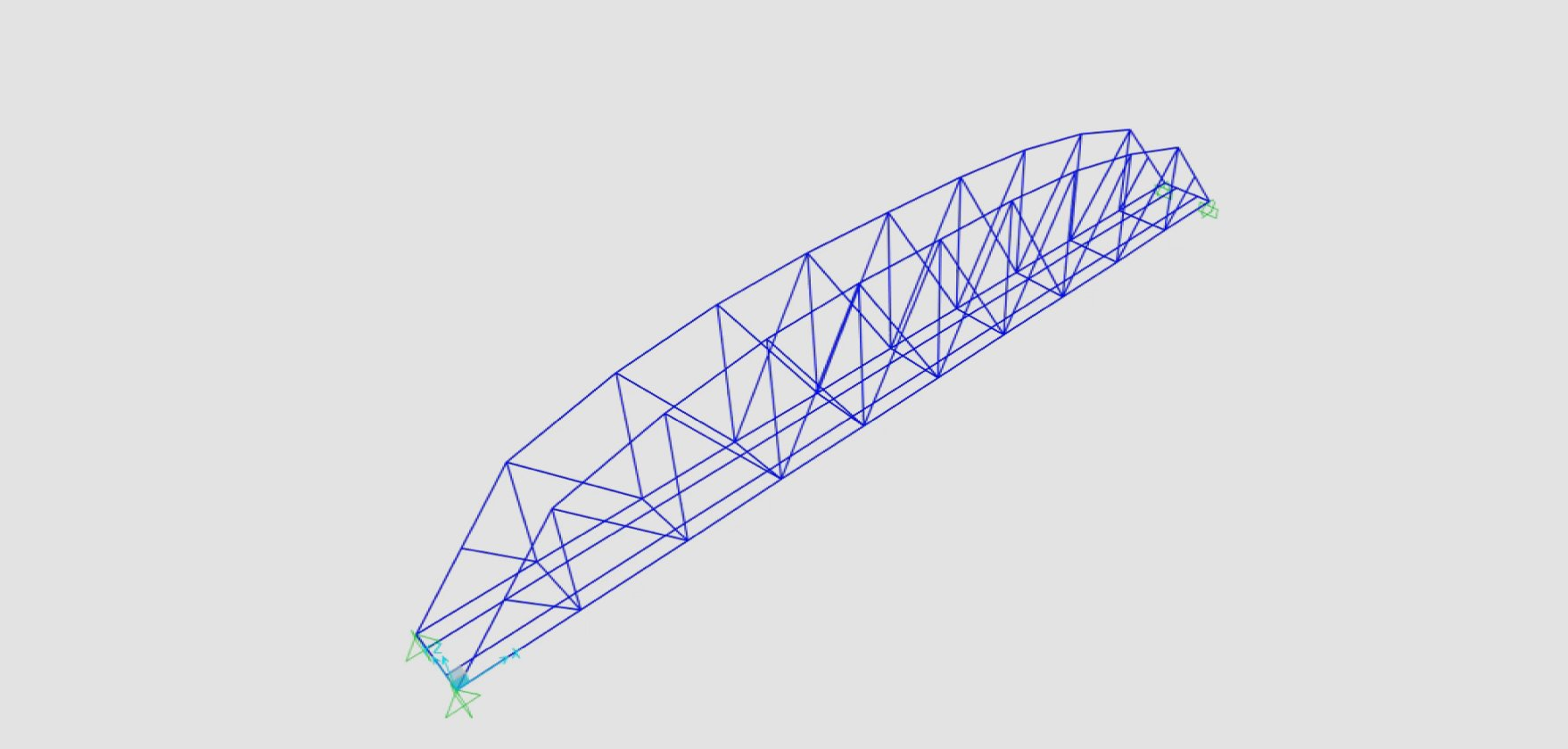 Engineering CAD rail bridge 3D model
